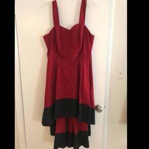EShakti High-low Red & Black Dress - ~2x